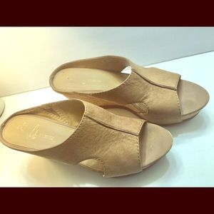 Ladies Heeled Sandals, Beige/Tan, Size 9M